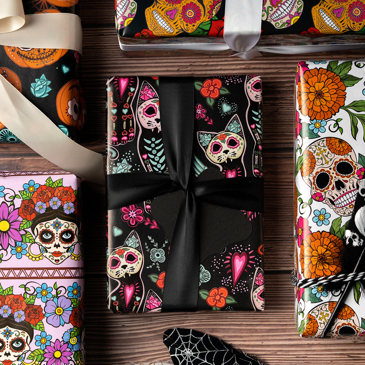 Wrapaholic-Skull-Design-Gift-Wrapping-Paper-Sheet-6