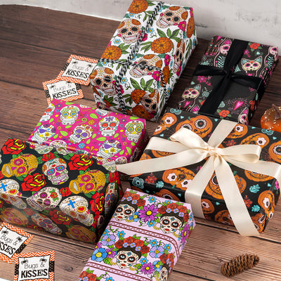 Wrapaholic-Skull-Design-Gift-Wrapping-Paper-Sheet-5