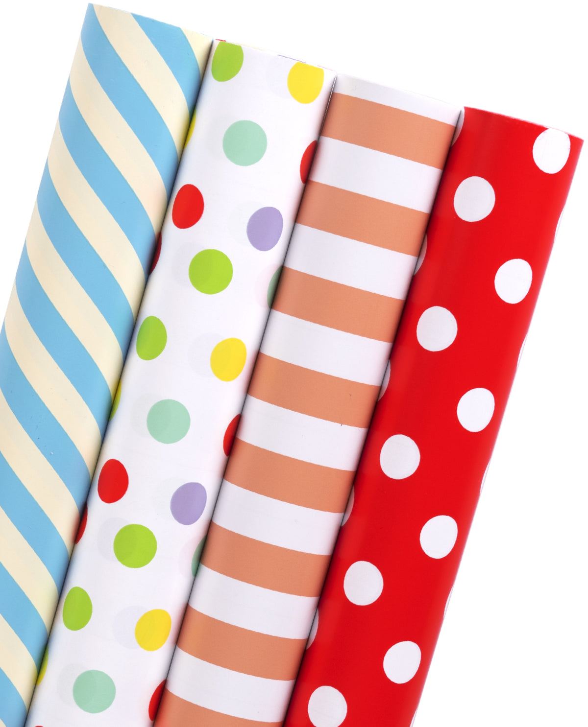 Wrapaholic-Stripes-and-Polka-Dot-Print-with-Cut-Lines-Gift-Wrapping- Paper-Roll-1