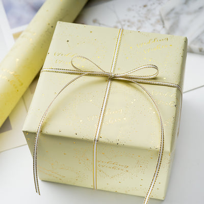 Wrapaholic- Sweet-Heart- and-Wedding Wishes-Design with-Cut-Lines  Gift-Wrapping- Paper- Roll-4