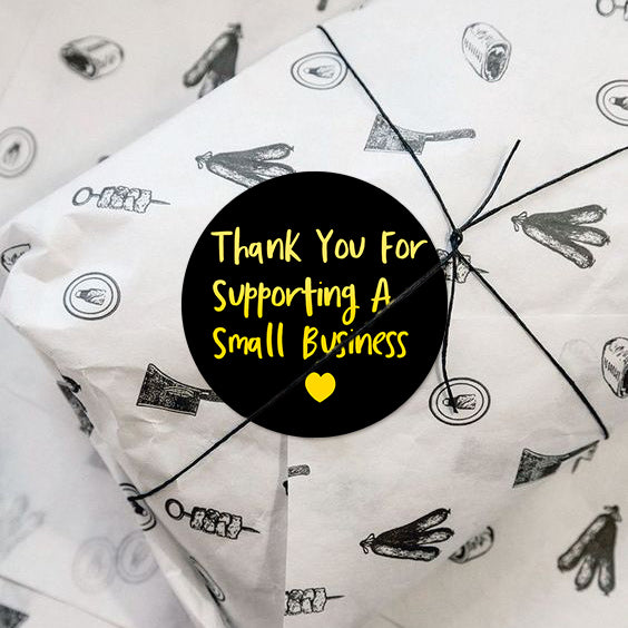 Wrapaholic Thank You for Supporting A Small Business Stickers Gold Foil Business Thank You Stickers, Shipping Stickers-2 x 2 Inch 500 Total Labels
