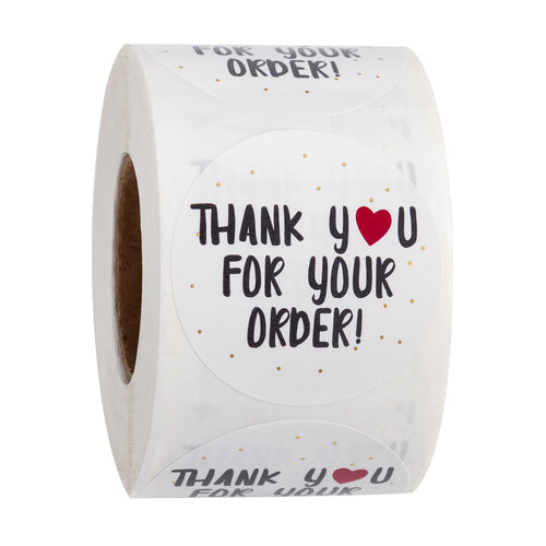 Wrapaholic Thank  You for Your Order Stickers for Shopping Small Shop Local Handmade-2 x 2 Inch 500-Total Labels