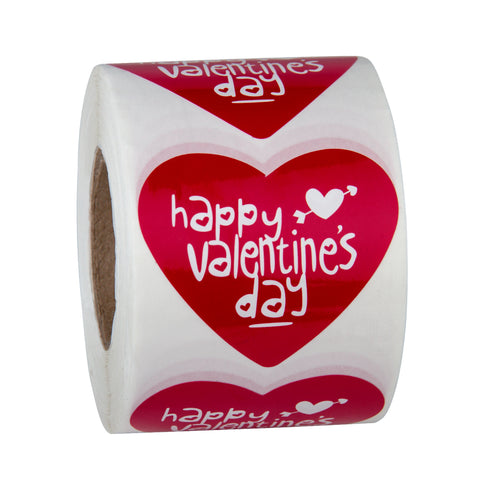 WRAPAHOLIC Valentine's Day Gift Stickers - Sweet Red Heart Design for Valentine Gift Wrap - 1.97 x 2.24 Inch 500 Total Labels