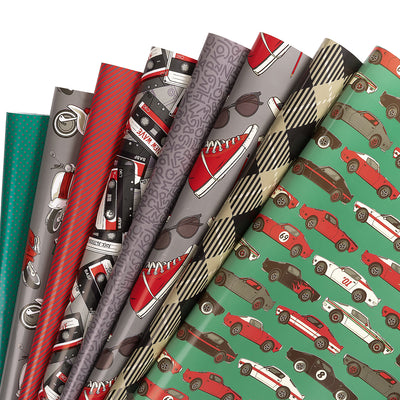 Wrapaholic-Vintage-Car-Wrapping-Paper-Sheets-1