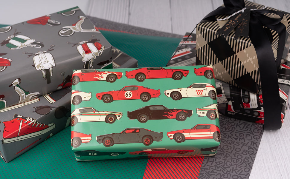 Wrapaholic-Vintage-Car-Wrapping-Paper-Sheets-4