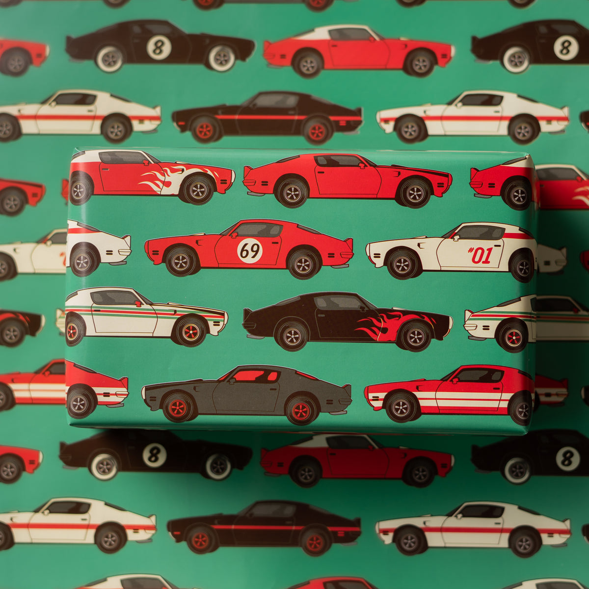 Wrapaholic-Vintage-Car-Wrapping-Paper-Sheets-5