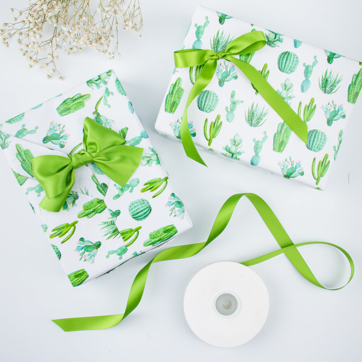 Wrapaholic-Watercolor-Cactus-Print-Gift-Wrapping-Paper-Roll-4