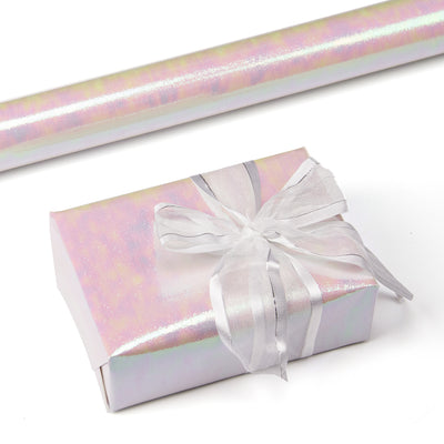 Wrapaholic-White-Paper-with-Rainbow-Shiny-Gift-Wrapping-Paper-Roll-1
