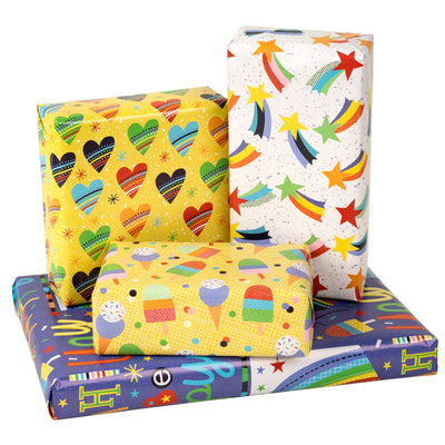 Wrapaholic-Wrapping-Paper-Sheet- -Folded-Flat -4-Different- Birthday-Design (30.1 sq. ft.ttl.) - 27.5 inch X 39.4 inch-Per-Sheet-6