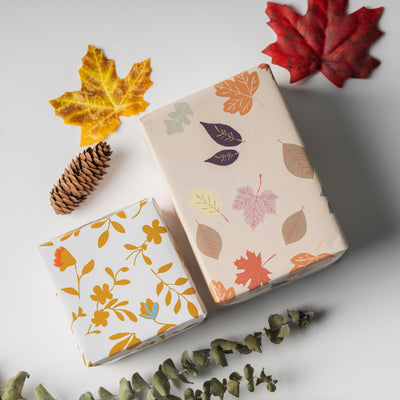 Wrapaholic-Wrapping-Paper-Sheet - Folded-Flat-6-Different -Autumn-Design (45.2 sq. ft.ttl.) - 27.5 inch X 39.4 inch-Per-Sheet-4