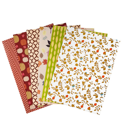 Wrapaholic-Wrapping-Paper-Sheet - Folded-Flat-6-Different -Autumn-Design (45.2 sq. ft.ttl.) - 27.5 inch X 39.4 inch-Per-Sheet-6