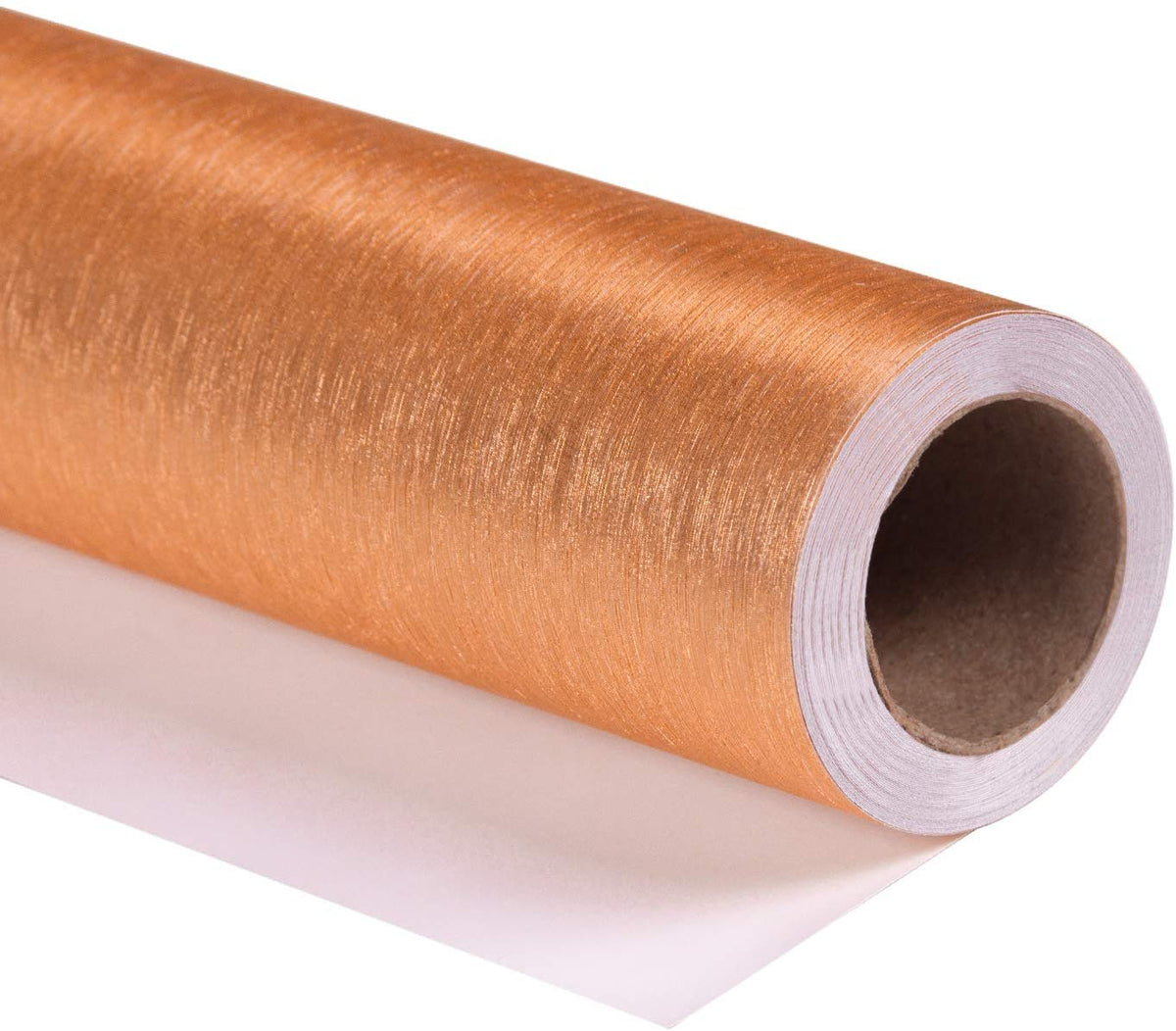 Wrapaholic-brushed-metal-bronze-gift-wrapping-paper-roll