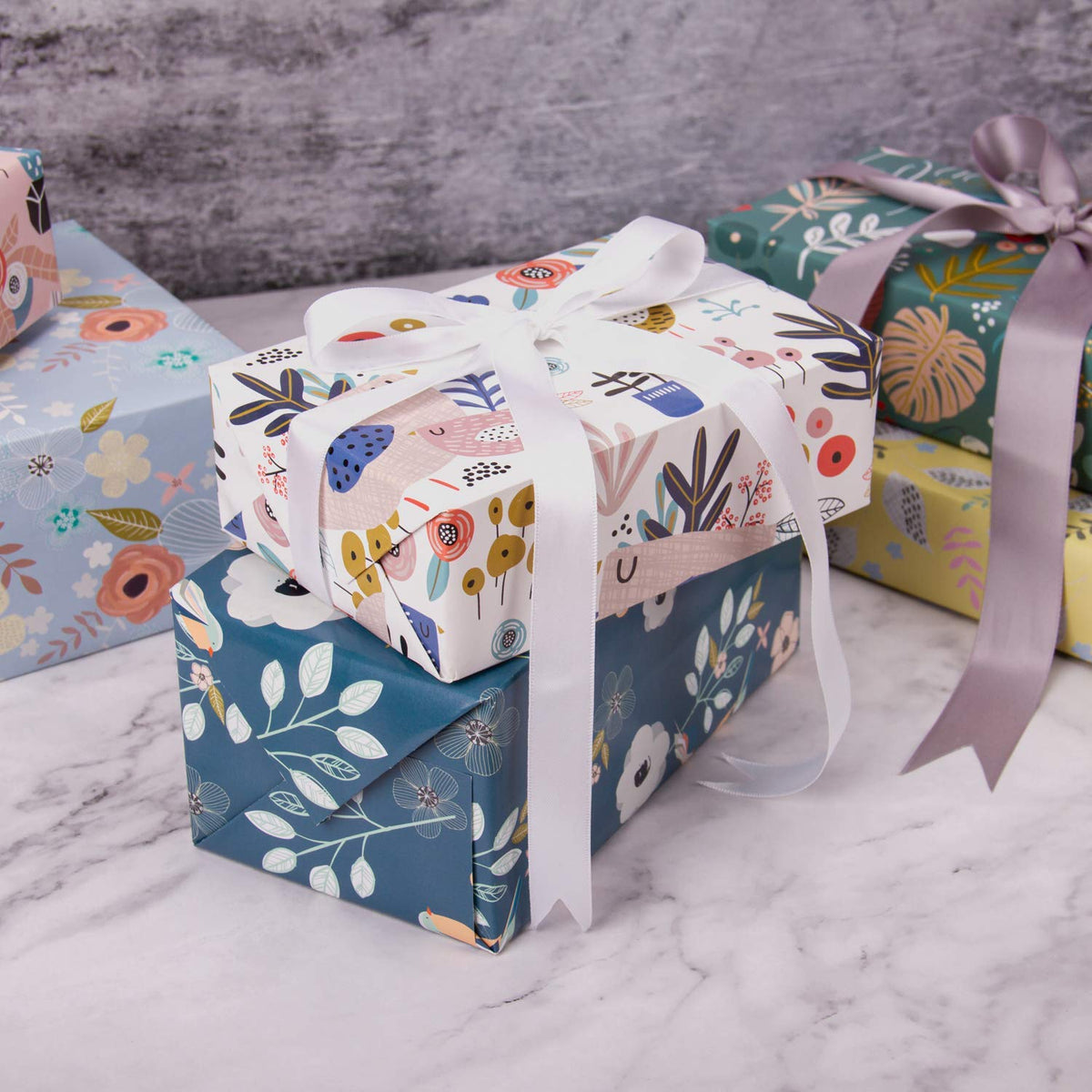 Wrapaholic-floral-birds-gift-wrapping-sheet-bloom