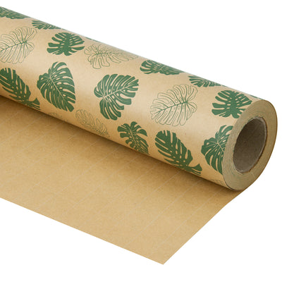 Wrapaholic-Monstera-Kraft-Gift-Wraping-Paper-1