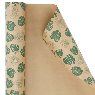 Wrapaholic-Monstera-Kraft-Gift-Wraping-Paper-2