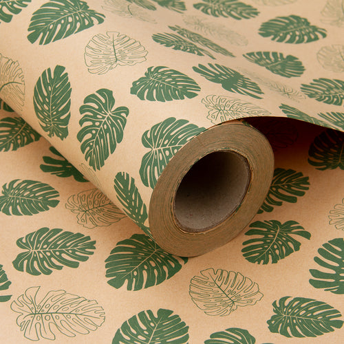Wrapaholic-Monstera-Kraft-Gift-Wraping-Paper-3