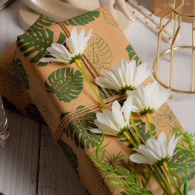 Wrapaholic-Monstera-Kraft-Gift-Wraping-Paper-6