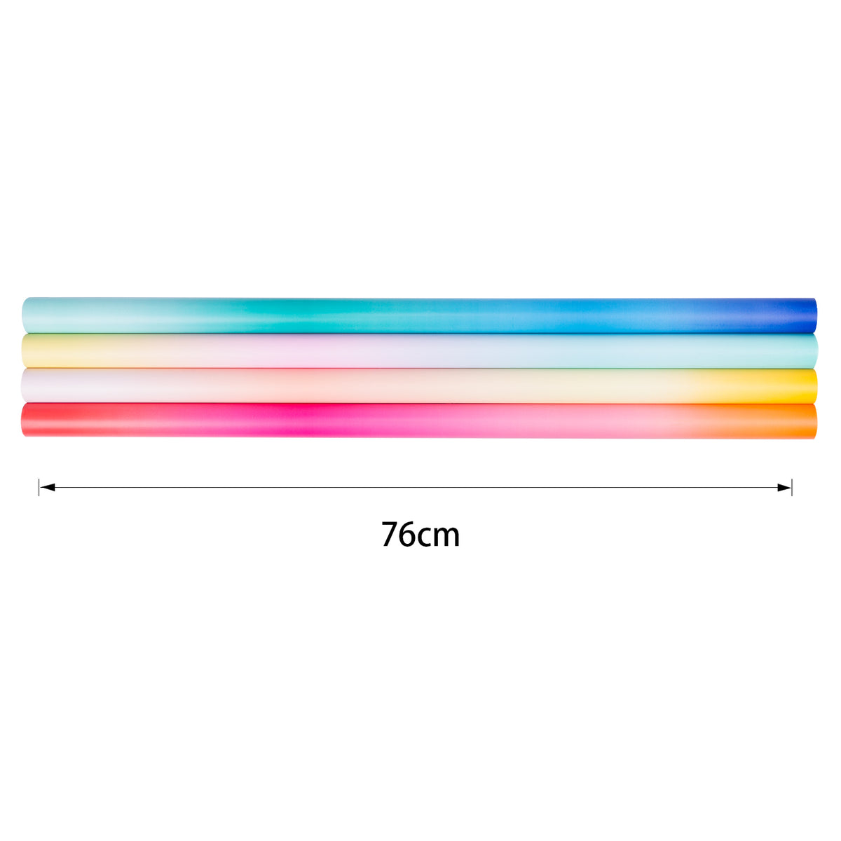 Gradient Color Gift Wrapping Paper Roll, 4 Rolls/Set