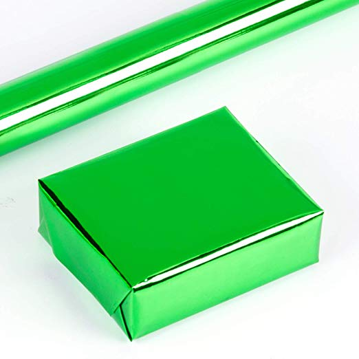 wrapaholic-glossy-metalic-green-gift-wrapping-paper-2