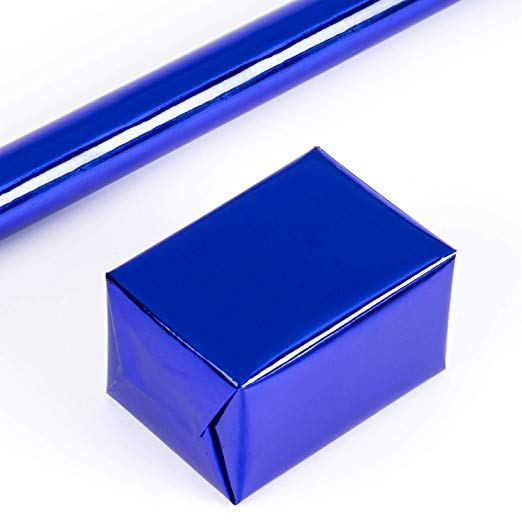 wrapaholic-glossy-metalic-royal-blue-gift-wrapping-paper-3