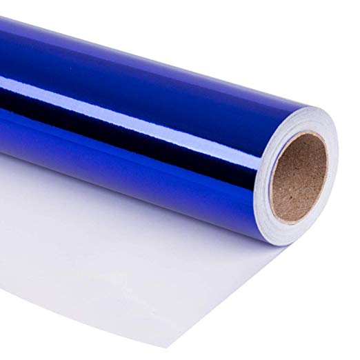 wrapaholic-glossy-metalic-royal-blue-gift-wrapping-paper-2