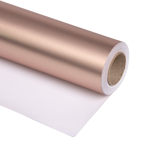 Wrapaholic-Matte-Metallic-Wrapping-Paper-Roll-Rose-Gold-m