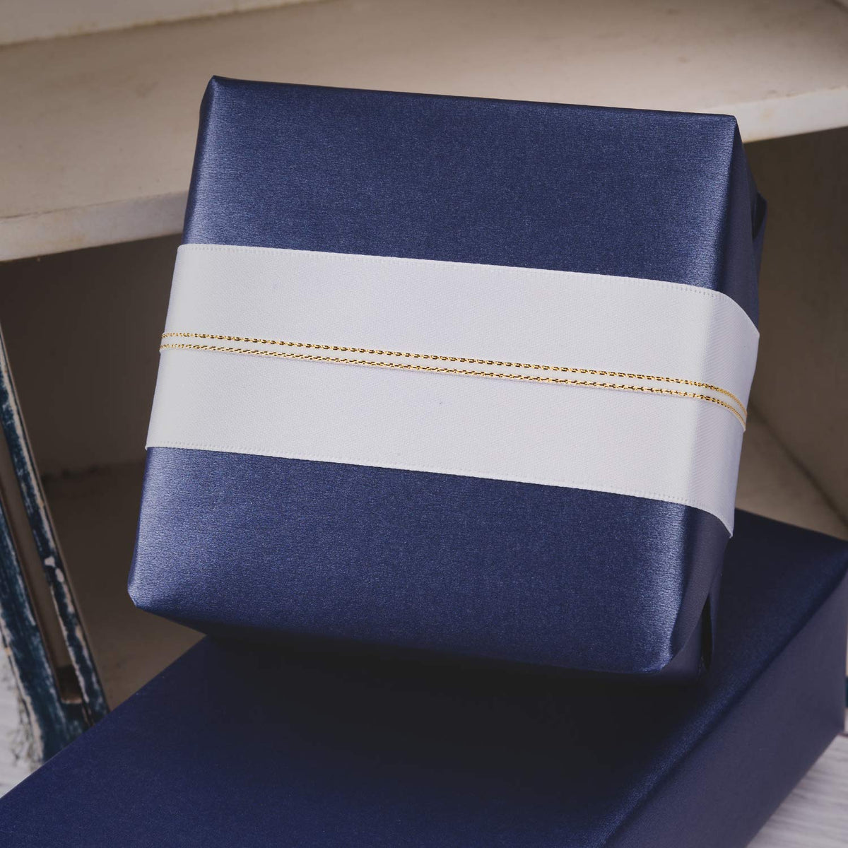 Wrapaholic-Jewelry-Wrapping-Paper-Roll-Navy-Blue-4