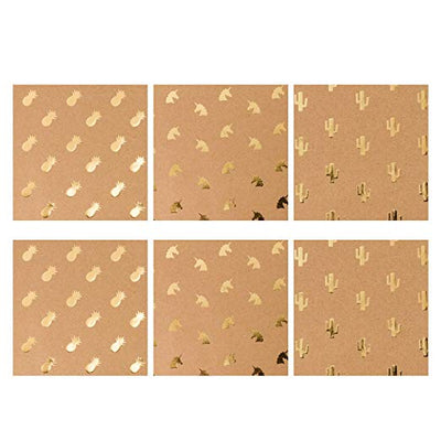 wrapaholic-kraft-wrapping-paper-sheets-gold-printed-2