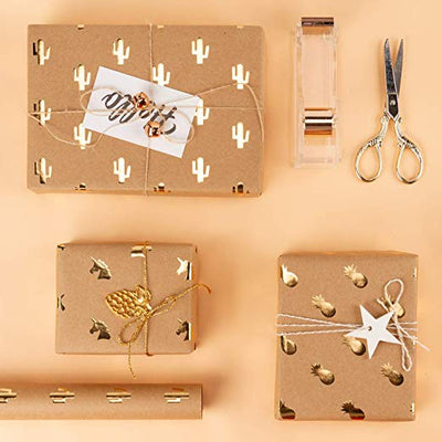 wrapaholic-kraft-wrapping-paper-sheets-gold-printed-3