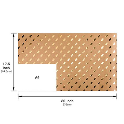 wrapaholic-kraft-wrapping-paper-sheets-gold-printed-6