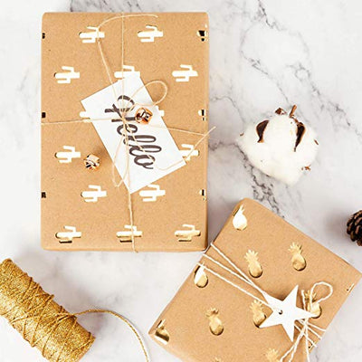 wrapaholic-kraft-wrapping-paper-sheets-gold-printed-5