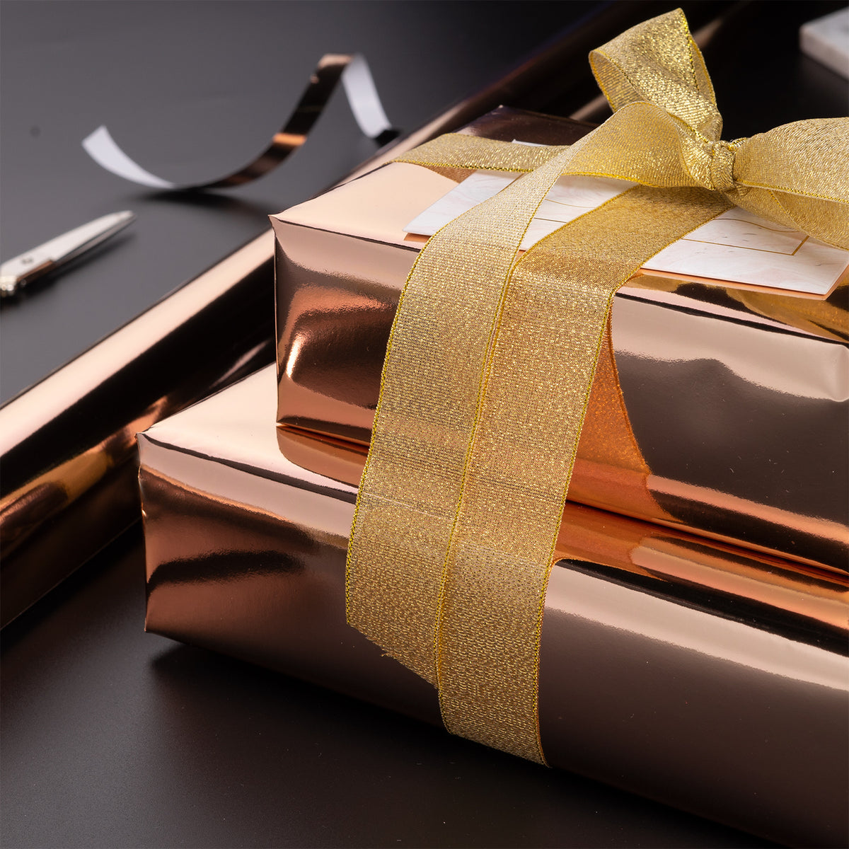 Wrapaholic-Metallic-Wrapping-Paper-Roll-Rose-Gold-3