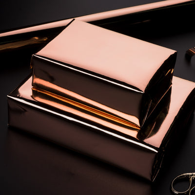 Wrapaholic-Metallic-Wrapping-Paper-Roll-Rose-Gold-5