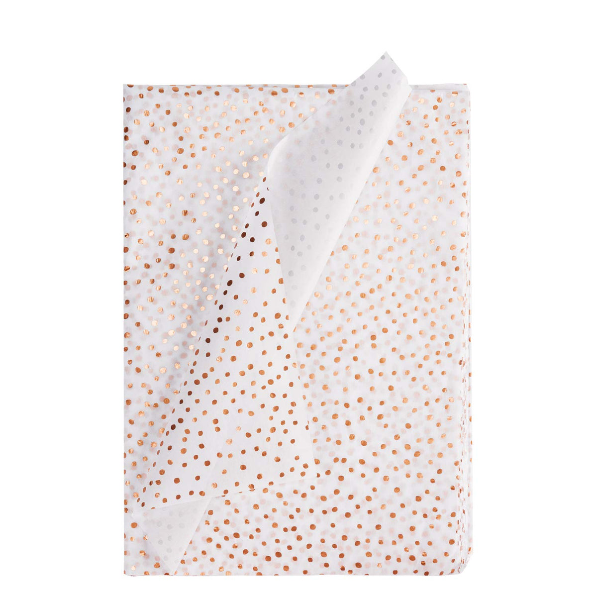Wrapaholic-Tissue-paper-Rose-Gold-Dot-Printing-24-Sheets-1