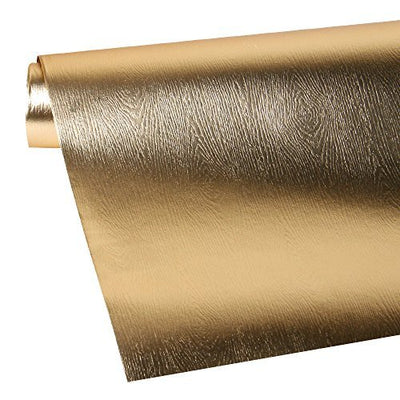Wrapaholic-Metalic-Gift-Wrapping-Paper- Gold- Wood-Grain-3