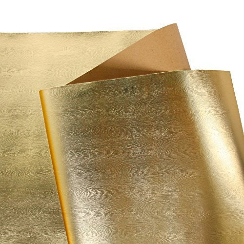 Wrapaholic-Metalic-Gift-Wrapping-Paper- Gold- Wood-Grain-2