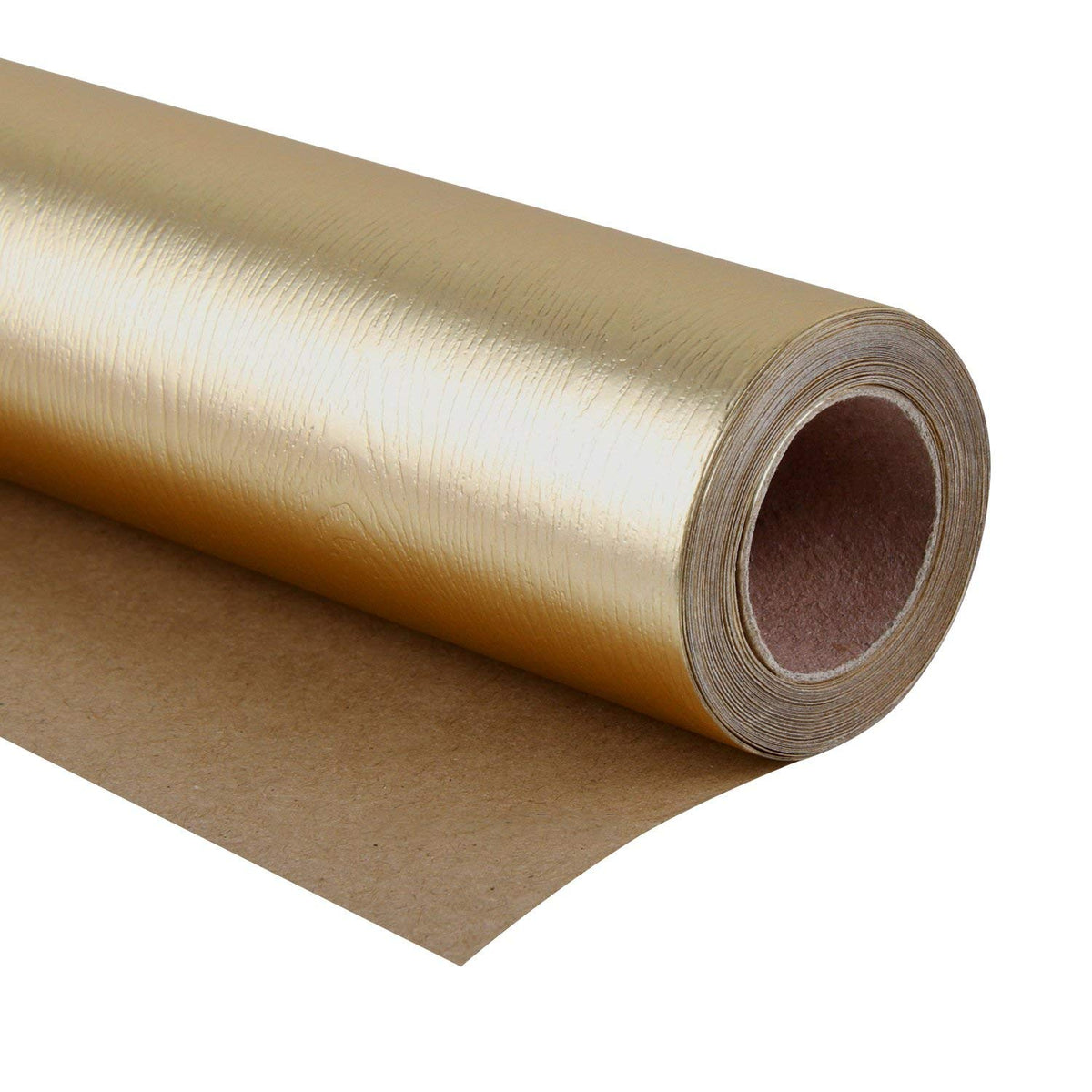Wrapaholic-Metalic-Gift-Wrapping-Paper- Gold- Wood-Grain-1