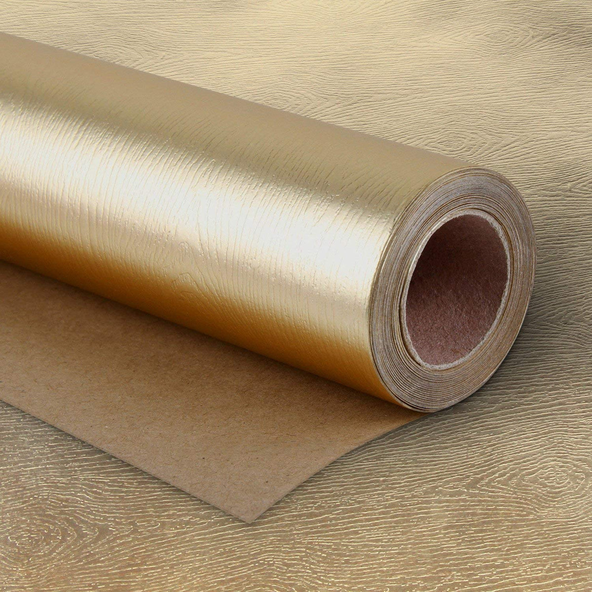 Wrapaholic-Metalic-Gift-Wrapping-Paper- Gold- Wood-Grain-m