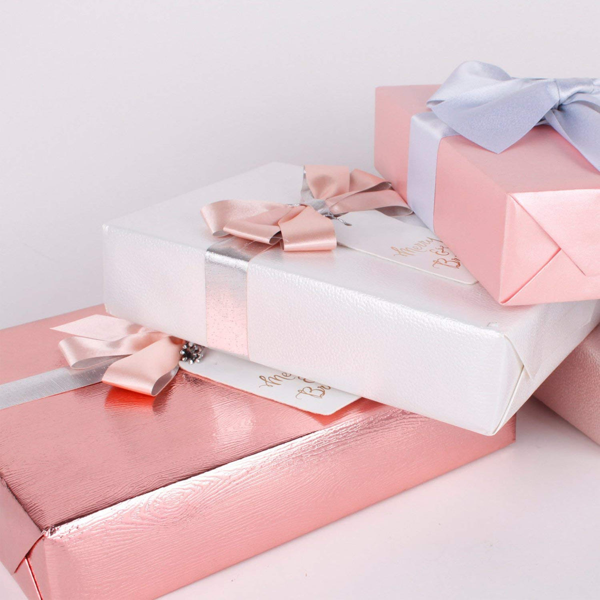 Wrapaholic-Metalic-Gift-Wrapping-Paper- Rose-Gold- Wood-Grain-4