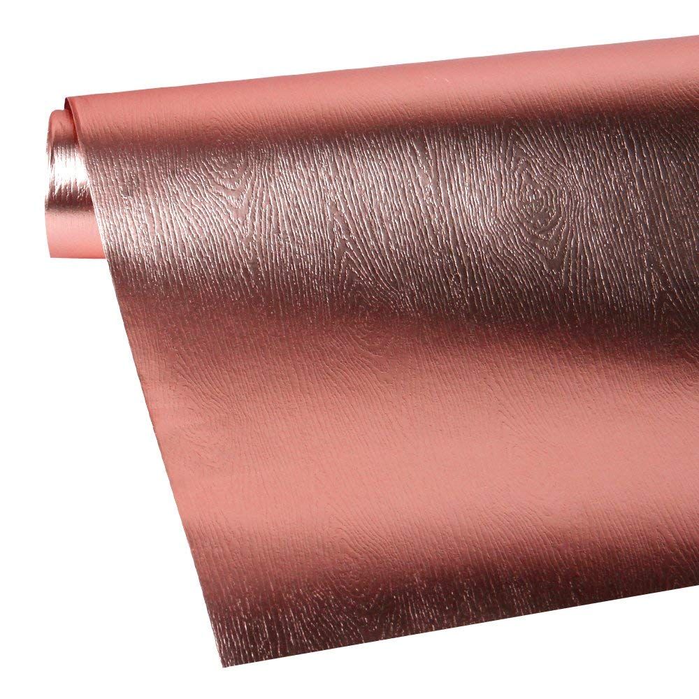 Wrapaholic-Metalic-Gift-Wrapping-Paper- Rose-Gold- Wood-Grain-3