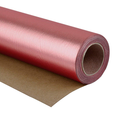 Wrapaholic-Metalic-Gift-Wrapping-Paper- Rose-Gold- Wood-Grain-1