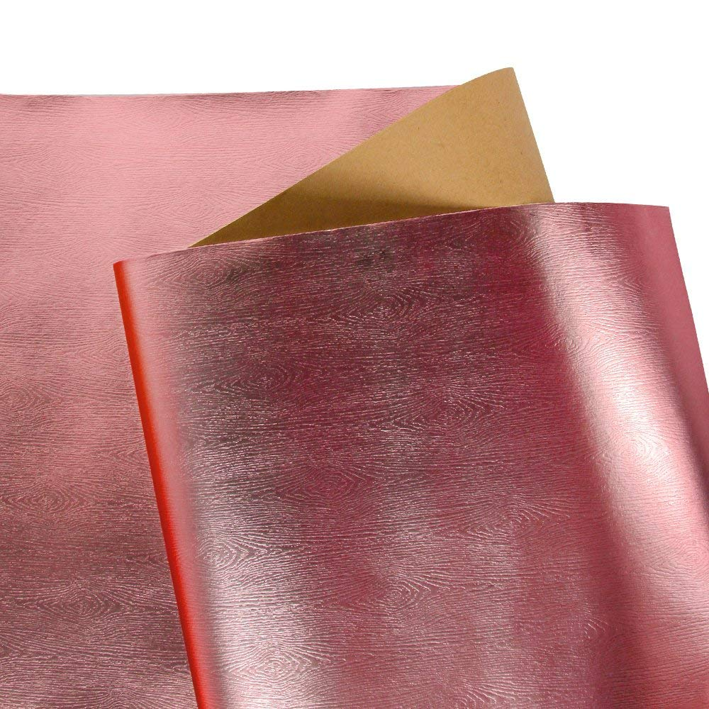 Wrapaholic-Metalic-Gift-Wrapping-Paper- Rose-Gold- Wood-Grain-2