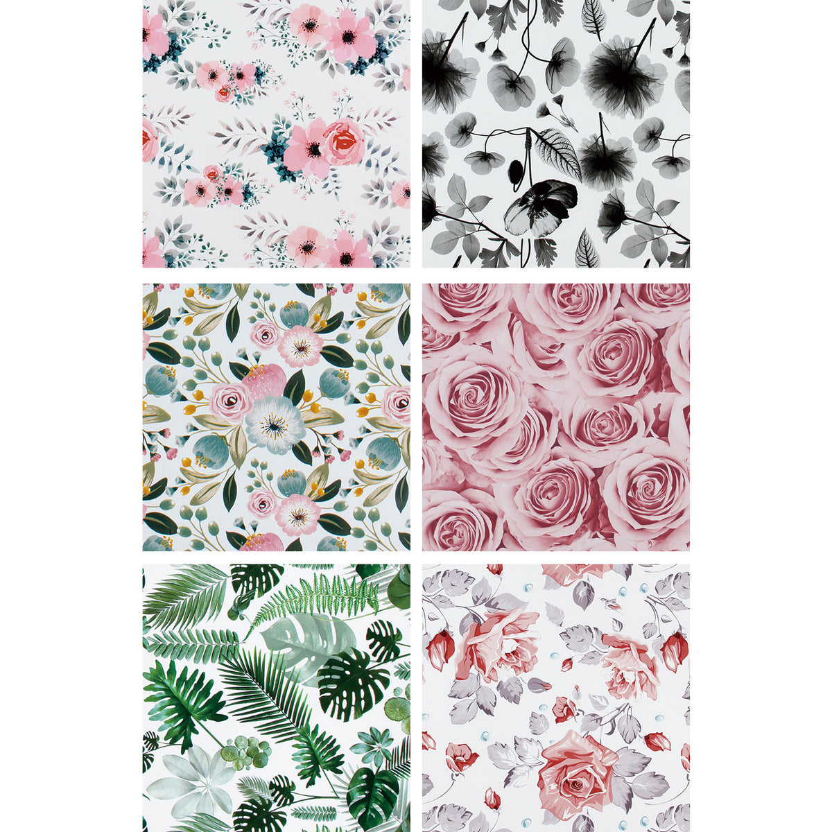 Wrapaholic-Spring-Flower-Wrapping-Paper-Roll-6-Rolls-Set-2