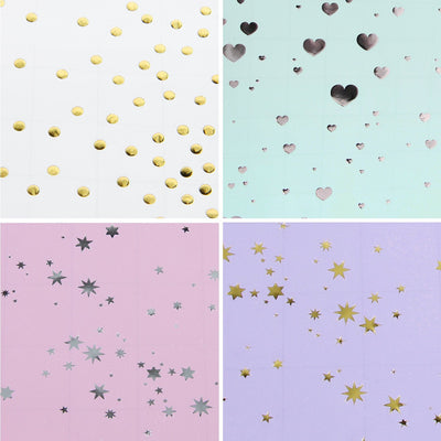 Wrapaholic Gift Wrapping Paper Colorful Dot Star Heart Design
