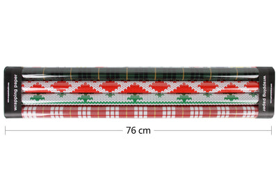 Wrapaholic-Merry-Christmas-Gift-Wrapping-Paper-Roll-plaid-2