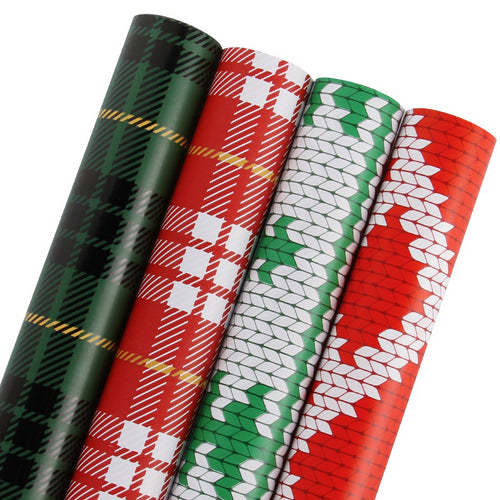 Wrapaholic-Merry-Christmas-Gift-Wrapping-Paper-Roll-plaid-m