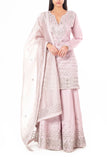 Muted Lilac Sharara with Pressed Gota Work