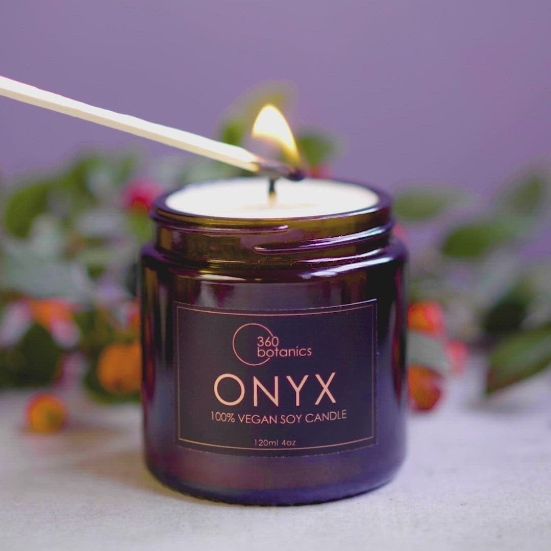 Video showing the lighting of our Onyx Candle