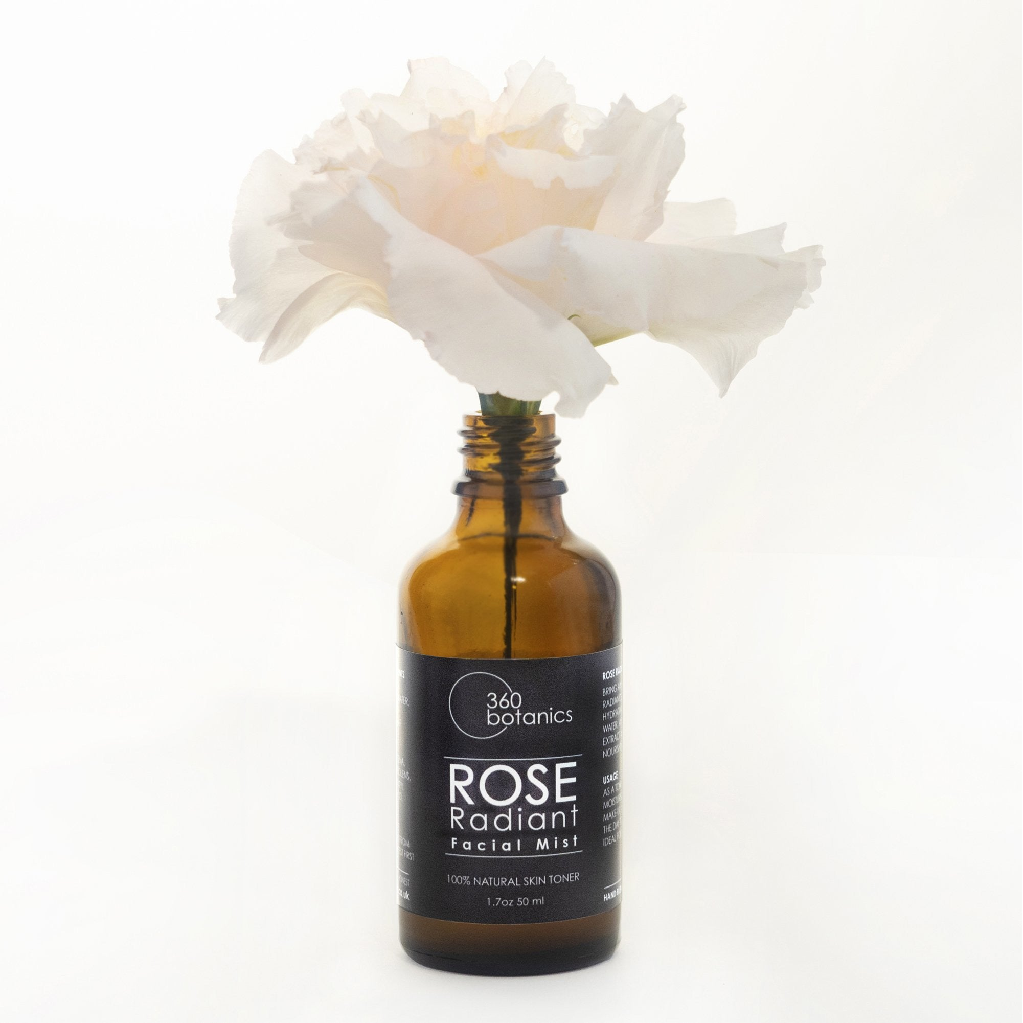 360Botanics-Rose-Radiant-facial-mist with white Rose