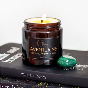 Aventurine Soy Candle - Sea Salt & Cucumber